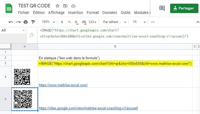 Exemple : Utilisation des codes QR dans d'autres applications