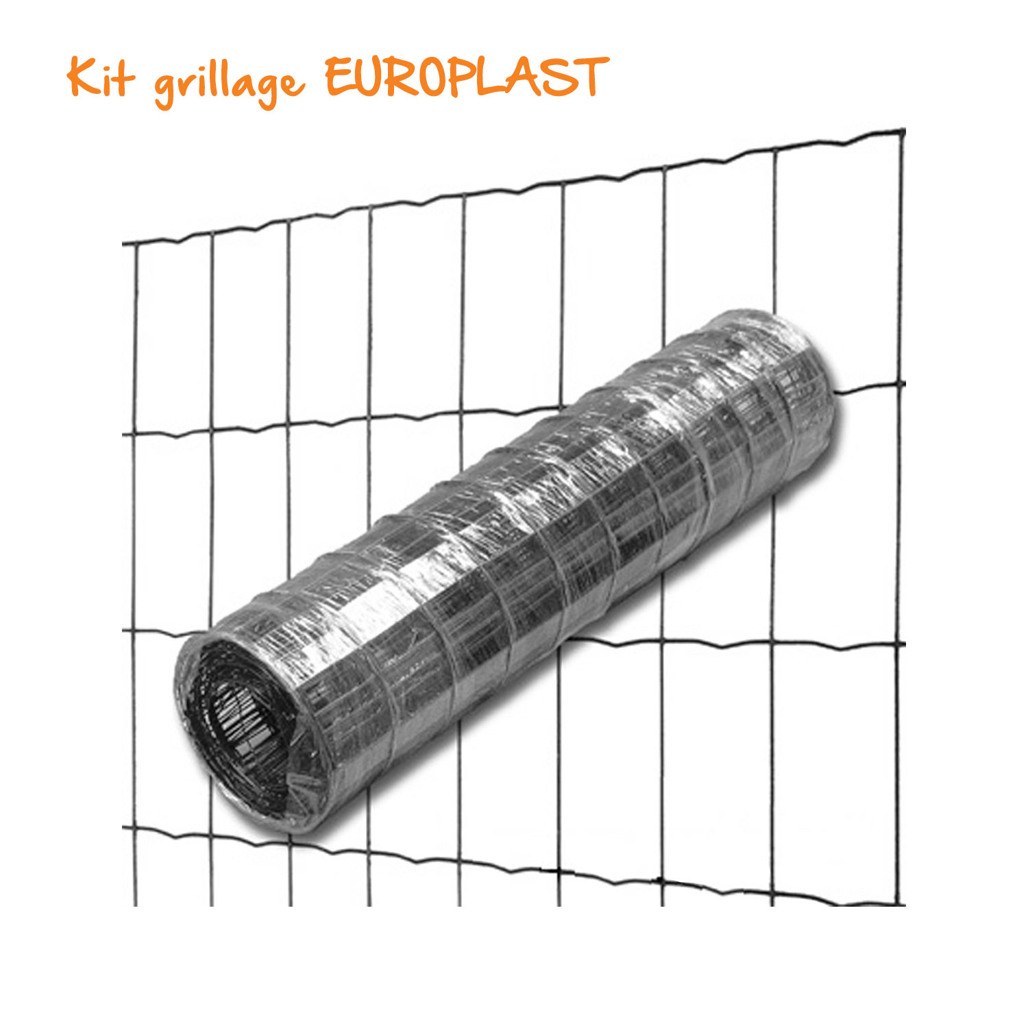 kit grillage soude europlast 100 x 50 mm o 2 1 mm lg 25 m gris anthracite