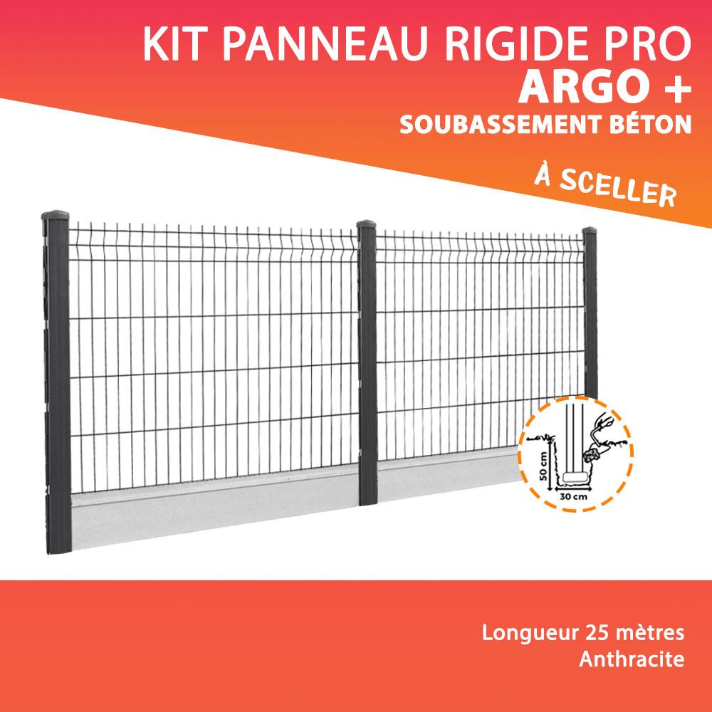 kit panneau rigide pro argo a sceller dalle de soubassement beton