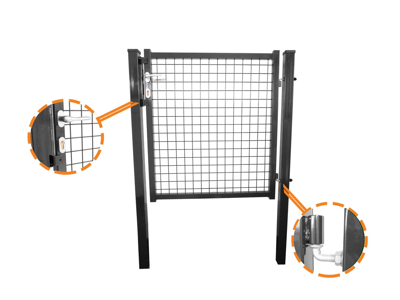 Portillon Grillage Forte Gris Anthracite Ideal Pour Cloturer Votre Jardin