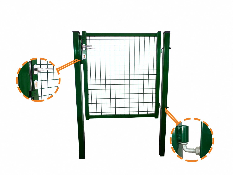 Portillon Grillage Forte Vert Ideal Pour Cloturer Votre Jardin
