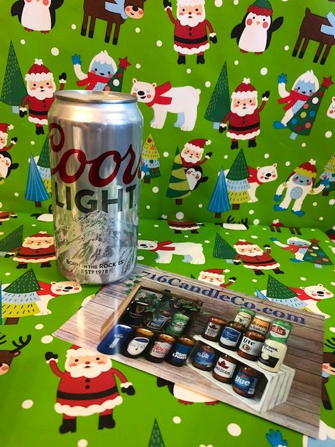 Coors Light Beer Can Soy Wax Candle 716 Candle Co.