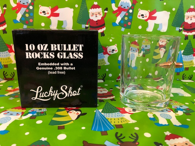 .308 Bullet Whiskey Glass From Lucky Shot USA