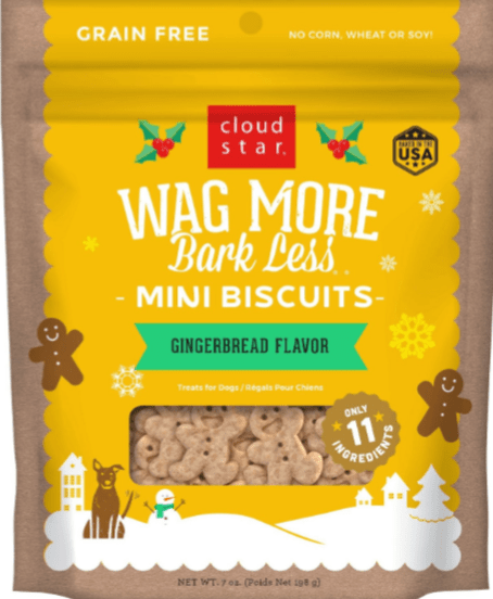 Wag More Bark Less Gingerbread Mini Biscuits