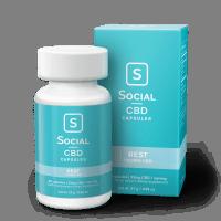 Social CBD Rest | Hemp Seed Oil CBD Capsules [33.33mg]