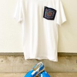玉川福祉作業所さんの刺し子ポケットTシャツと、デイセンターふれあいさんのペイントシューズ♡