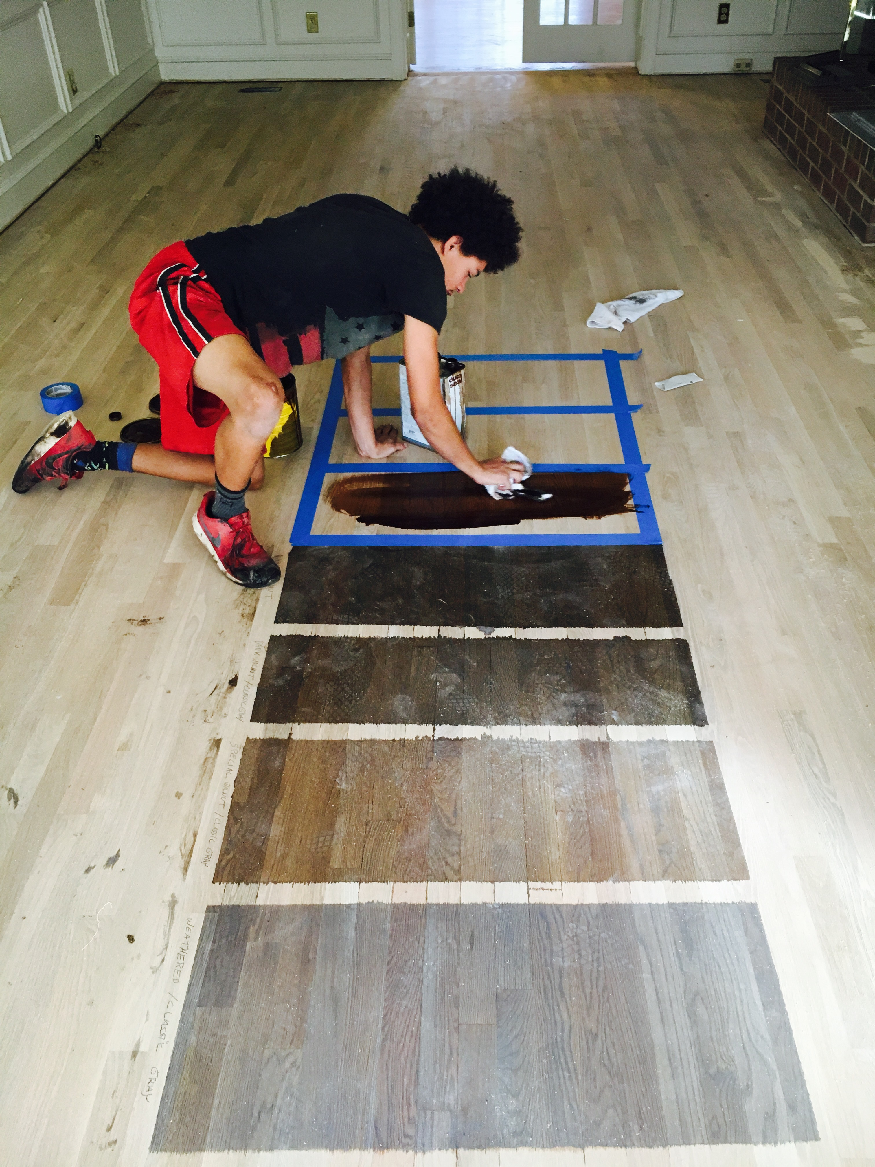 Hardwood Floor Custom Staining And Bleaching Service Charlotte NC - Hardwood floors charlotte nc