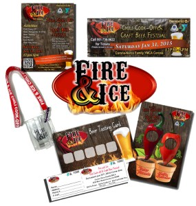 Majestic Sign Studio | Fire & Ice Chili Cook-Off and Craft Beer Festival Event Graphics and Promo Materials