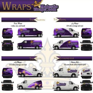 Majestic Sign Studio | Vehicle Wrap Coverage Area Options