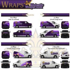 Majestic Sign Studio | Vehicle Wrap Coverage Area Options