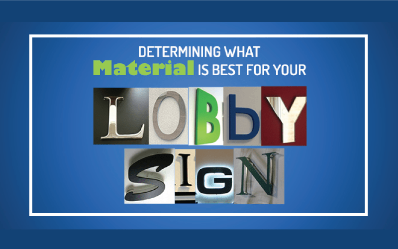 Best Material for 3D Lobby Sign