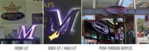Illuminated Business Signs Lighting Options