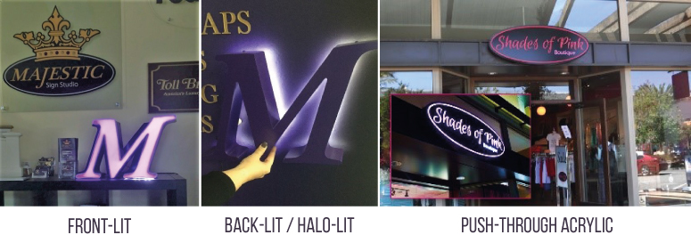 Illuminated Business Signs Lighting Options