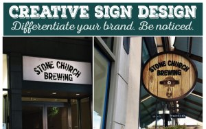 Creative Sign Design_Stone Church Brewing