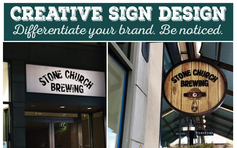 Creative Sign Design Distinguishes New Corona Brewery