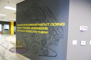 Lobby design ideas_Motivational quote decal