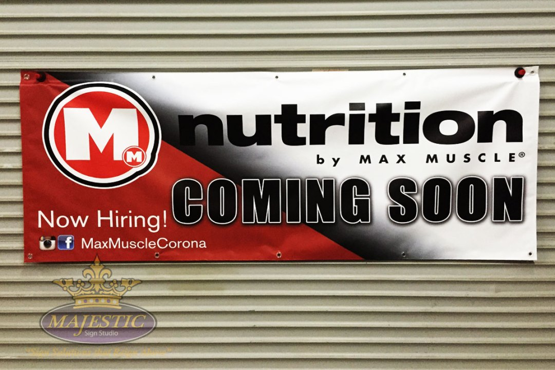 Affordable temporary banner for retail store promotion.