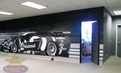 Custom Wall Mural for Commerical Office - Manufacturer of High Performance Vehicles