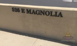 Painted Black PVC Dimensional Address Numbers & Letters