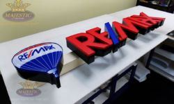 Real Esate Sign for Building with Front Lit Channel Letters & Raceway