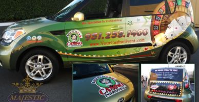 Full Vehicle Wrap for Car Advertising - Casino & Entertainment, Riverside County