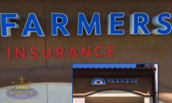 Insurance Sign with Front Lit Channel Letters