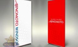 Trade Show Retractable Banners Ajinomoto.Windsor Dye-Sublimated