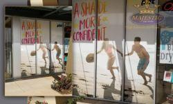Corona Tanning Salon Storefront Window