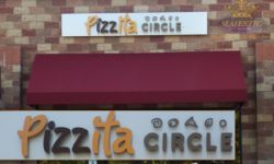 Pizza Company Building Sign with Halo Reverse Lit Channel Letters