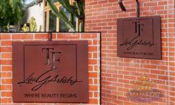 Reverse Flat Cut Aluminum - Makeup Studio Sign