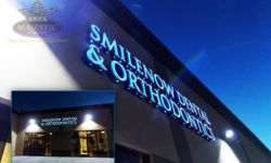 Dental Business Sign with Front Lit Channel Letters