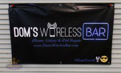 DOMs Bar vinyl banners