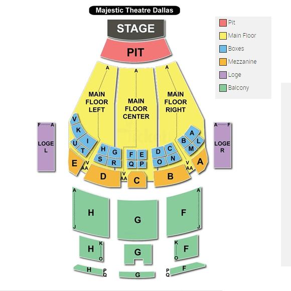 Majestic Theatre Dallas Seating Chart Brokeasshome Com