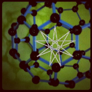 #bucky ball with an #enneagram. Notice the #shadow #art