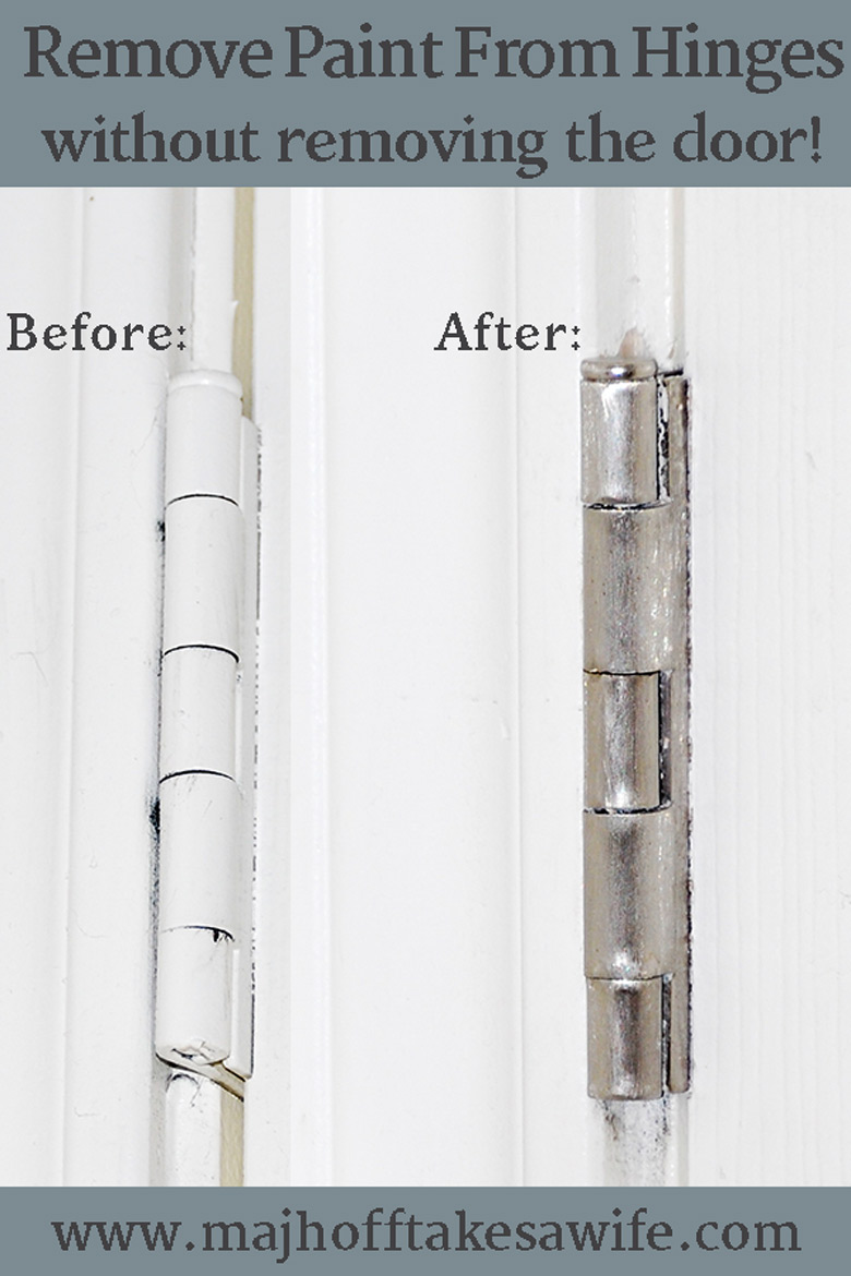 Remove paint from door hinges easily and simply  No