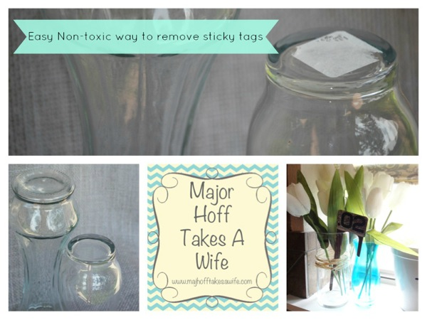 Easy non-toxic way to remove sticky tags