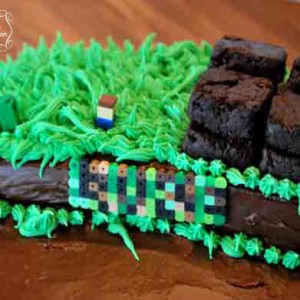 Easy DIY Minecraft Cake
