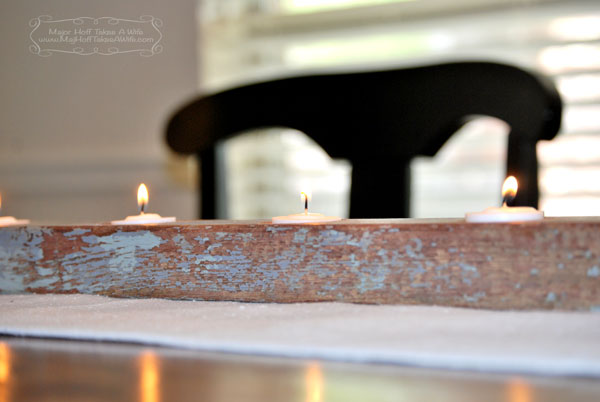 Barnwood table setting