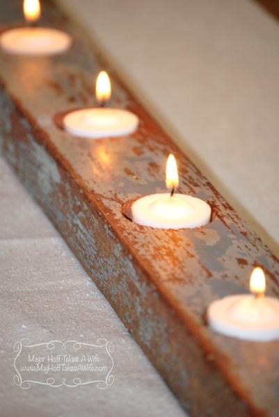 Candles blue chip paint