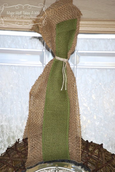 Top tie autumn wreath burlap twine