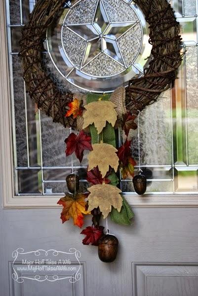 Best fall wreath pretty leaves