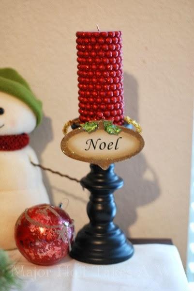 Noel Candle Ornament