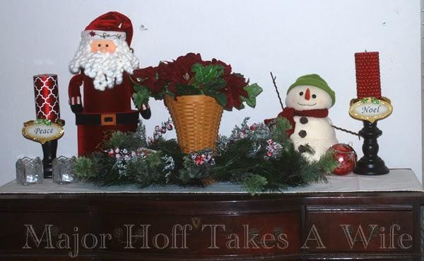 Playroom buffet with santa and snow man