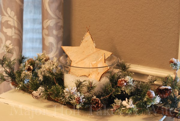 Star in Hurricane Garland surron snowy pinecones
