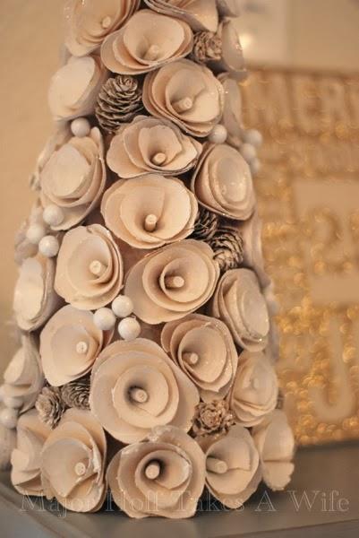 Target White Christmas Pinecone Rose Tree