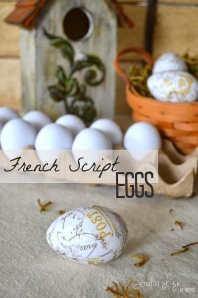 French Script Eggs Sondra Lyn at Home