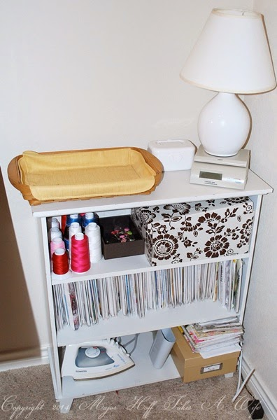 Little bookcase for sewing patterns