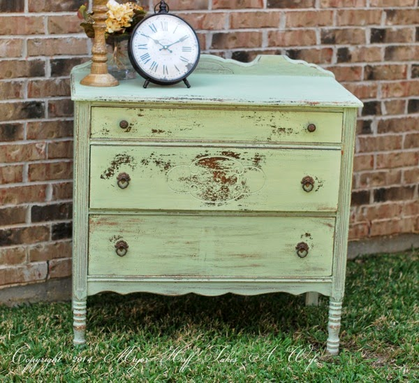 Miss Mustard Seed Luckett s Green on Antique Dresser