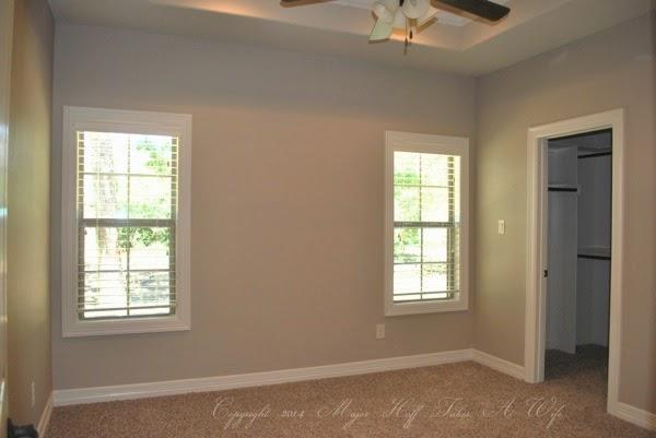 Bluestone bedroom window trim recessed ceiling