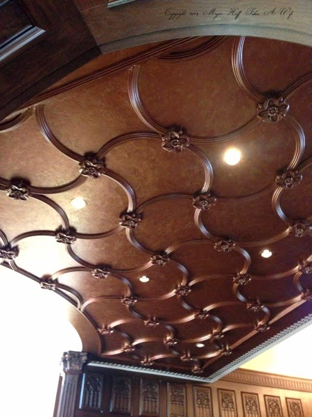 Entry Way ceiling with amazing details